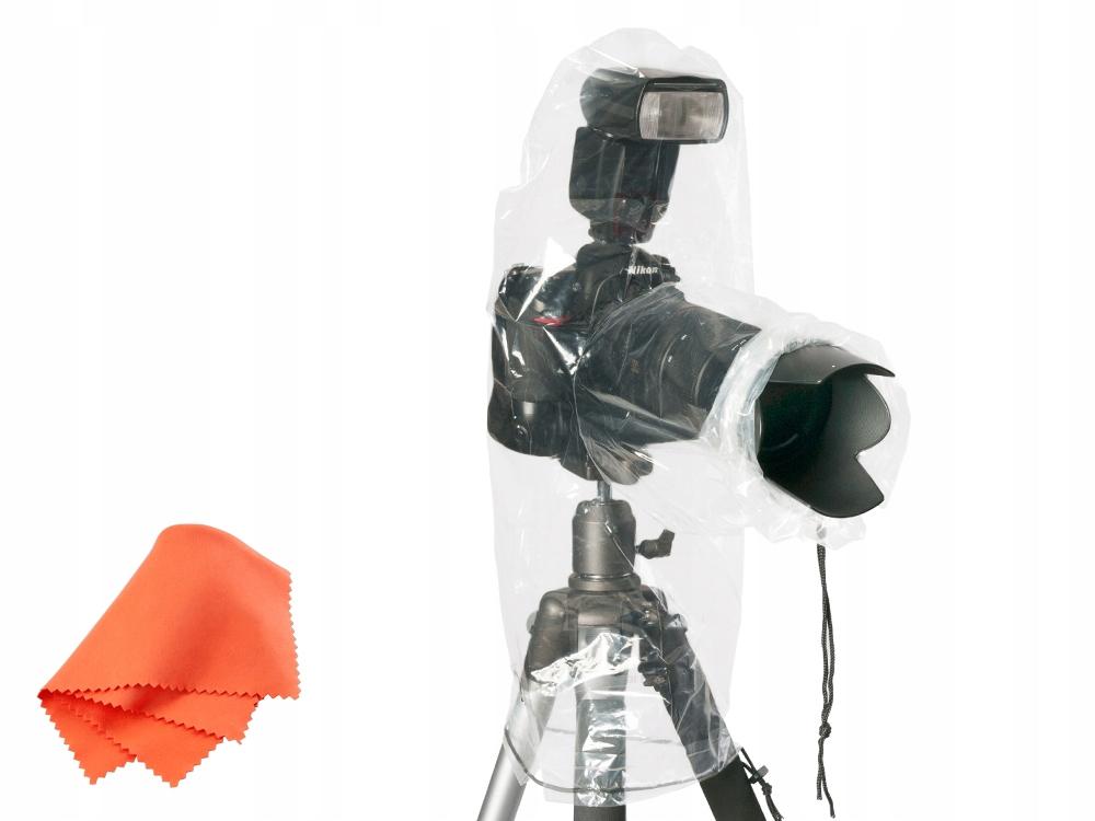 Pokrowiec przeciwdeszczowy JJC aparat z lampą 2szt