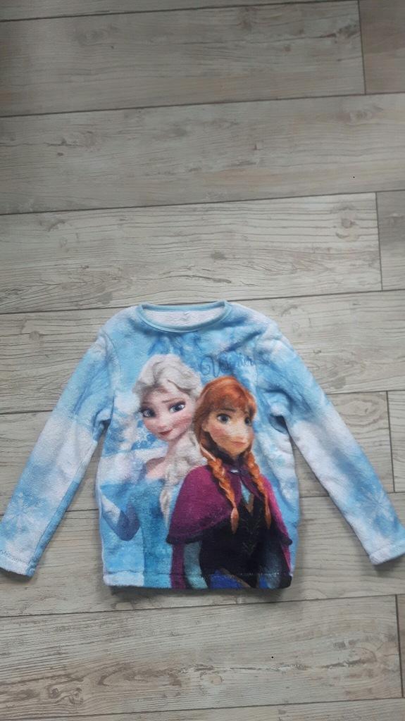 DISNEY FROZEN pluszowa bluza 116