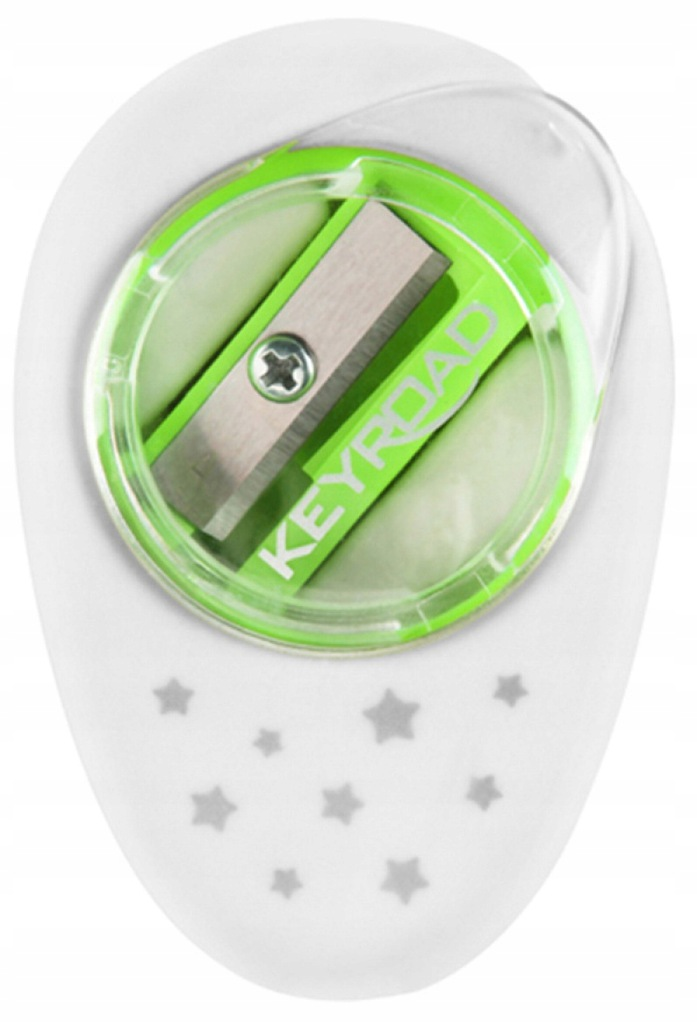 Temperówka z gumką pakowane na displayu mix 18szt