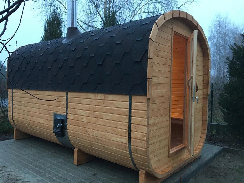 Sauna Ogrodowa kwadratowa dł.2m z piecem, 49mm