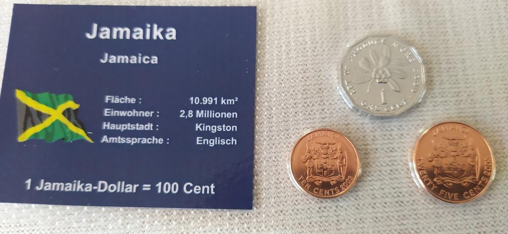 ZESTAW 3 monety w blistrze --JAMAIKA.