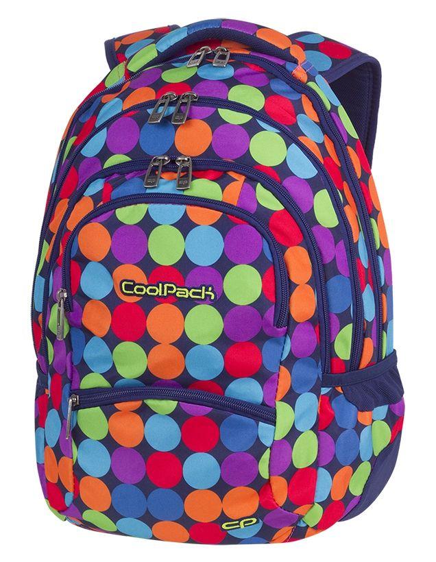 Plecak CoolPack COLLEGE kolorowe kropki, BUBBLE SH