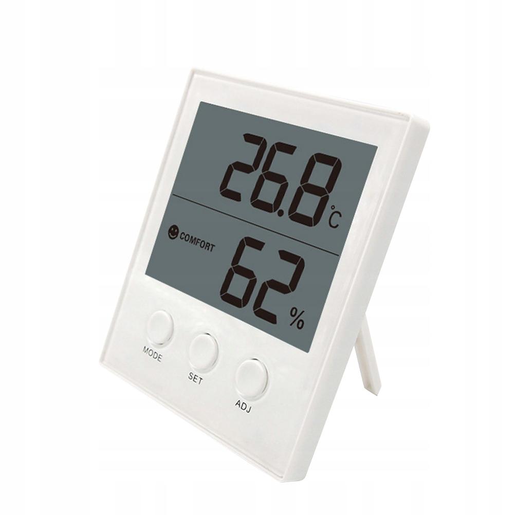 Biały elektroniczny cyfrowy higrometr Termometr we