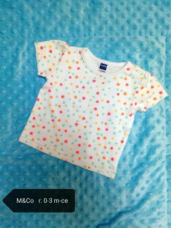 Bluzeczka bluzka M&Co koszulka top 56 62 0-3