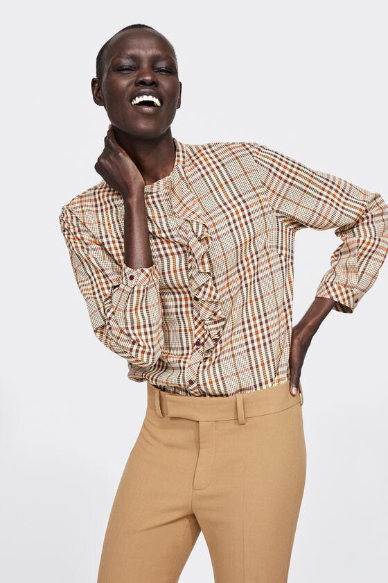 luksusowa ZARA WOMAN śliczna bluzka kratka