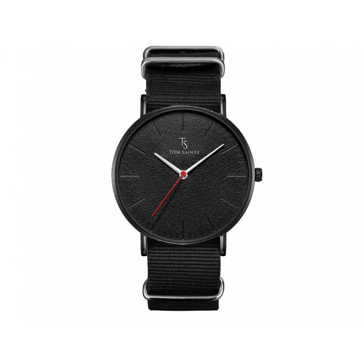 Zegarek męski Tom Saintz czarna tarcza czarny pase