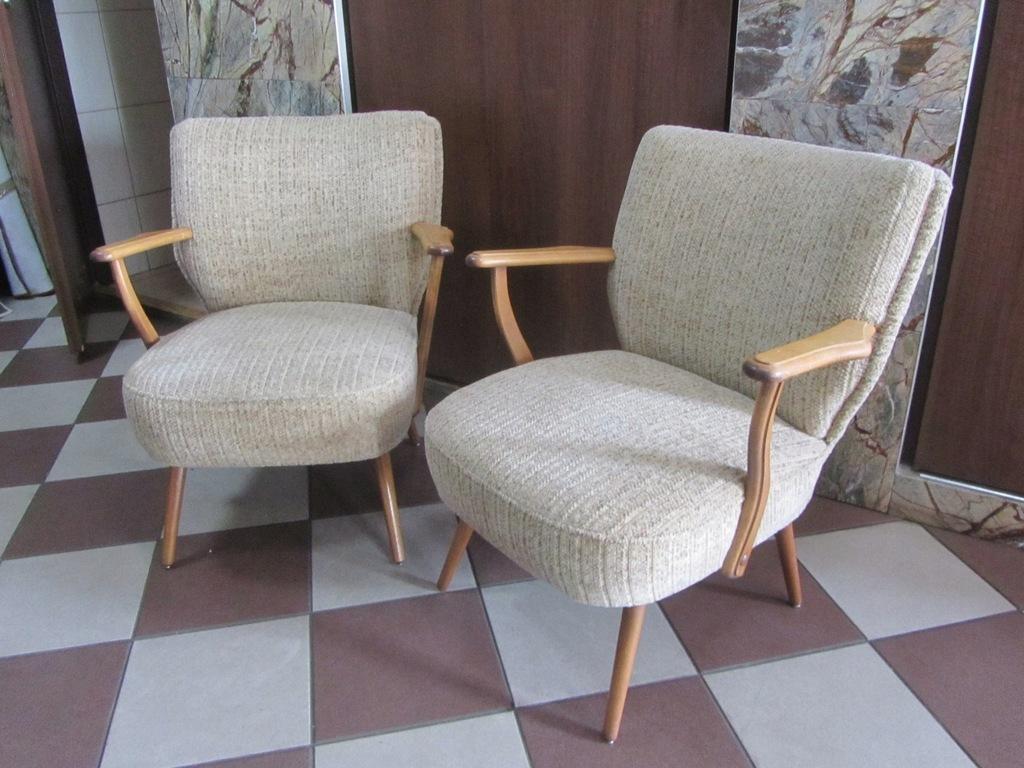 2 Fotele Klubowe ART DECO Uszaki Z Oparciami MEGA!