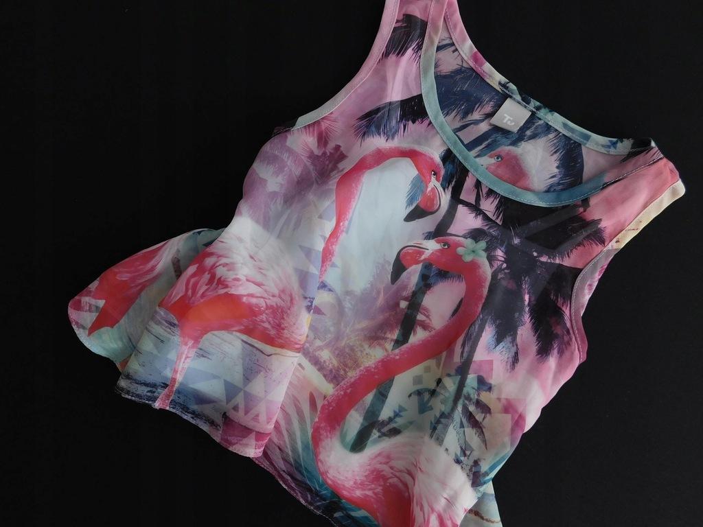 3006d100 TU top WZORZYSTY flamingi 104 cm