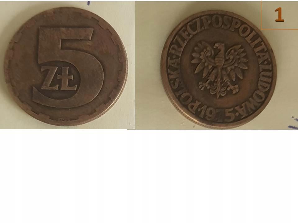 5zł obiegowe 1975 i 1977, wyprzedaż zbioru
