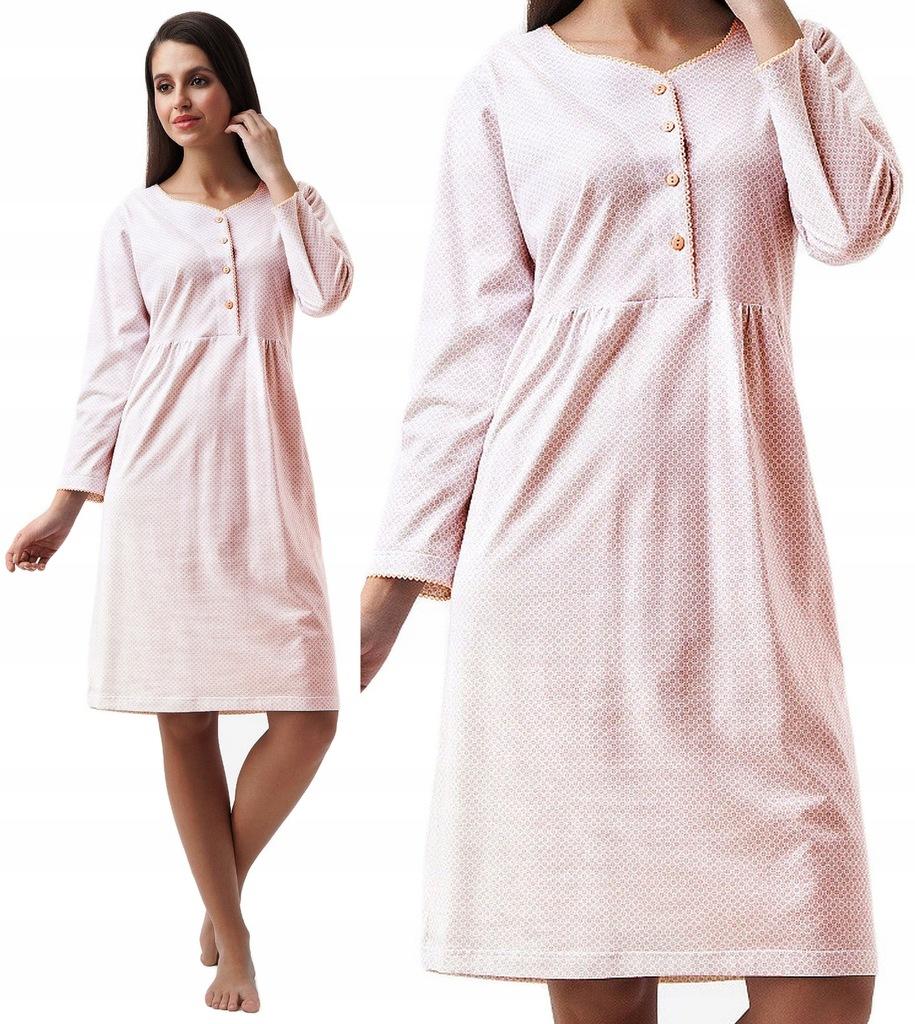 koszula nocna damska LUNA 258 w1 bawełna XXL
