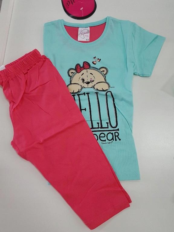 Piżama na lato dla dziewczynki 5-6 lat