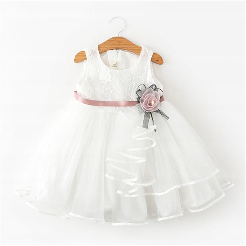 Sukienka tiul koronka śliczna druhna kwiatek r 104
