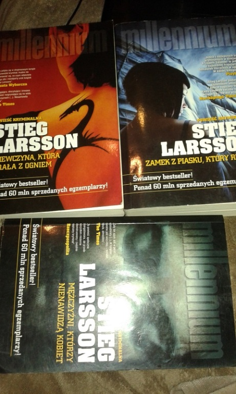 Saga MILLENIUM 3 tomy - Stieg Larsson NA KOTY