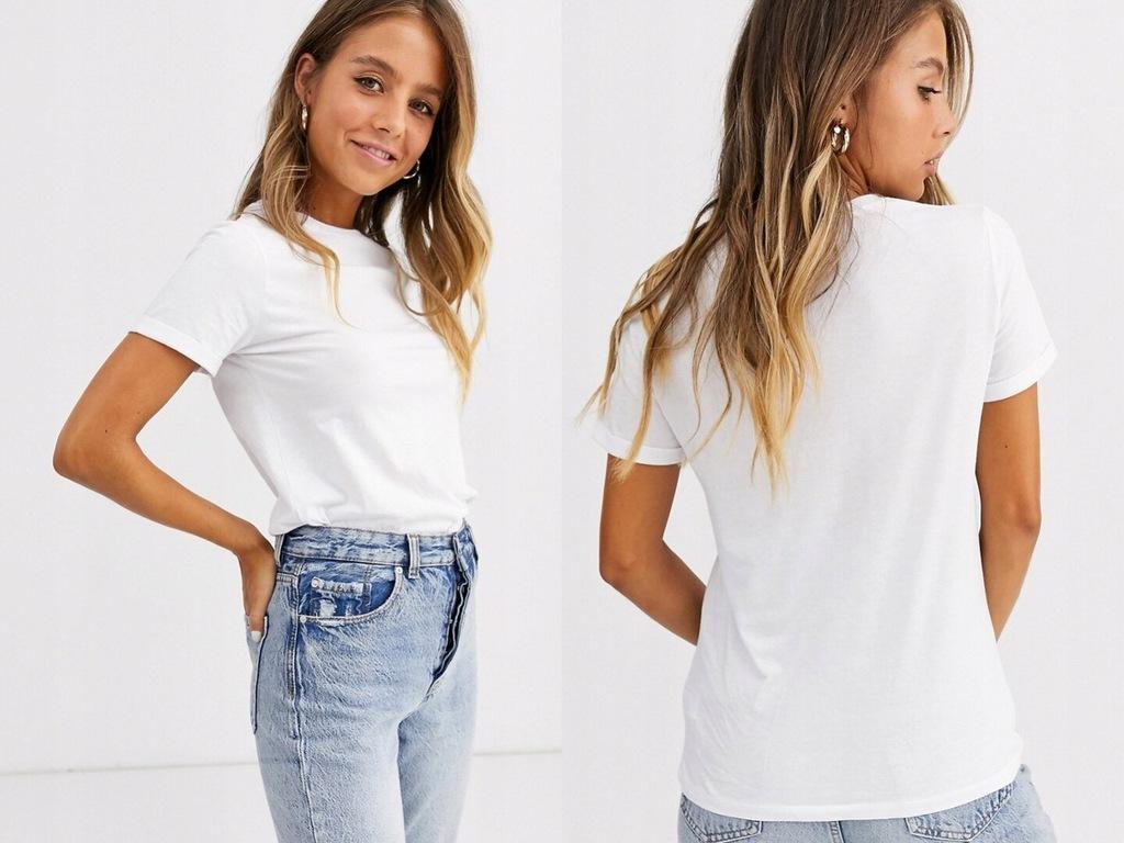 T-shirt z bawełny organicznej New Look XL/42