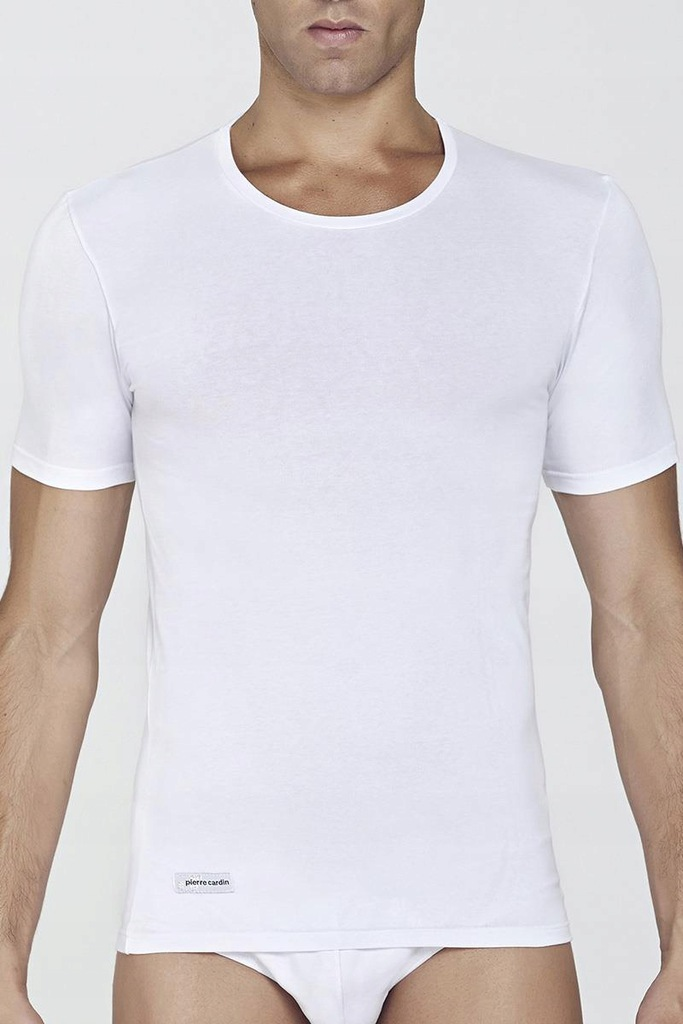 T-shirt Męski Model PCU17 White - Pierre Cardin L