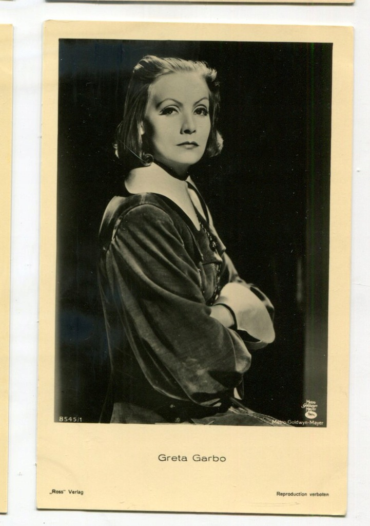 Greta Garbo Kino Film Aktorka Foto Pocztówka 44