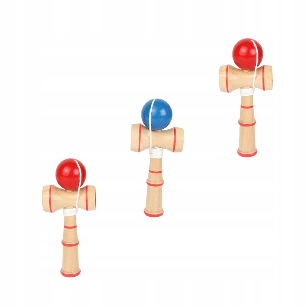 3 sztuk Kendama Zabawka Drewniana Umiejętność Miec