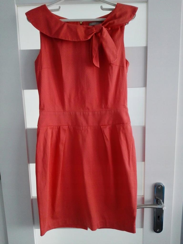 Sukienka Czerwona pomarancza jak nowa Orsay