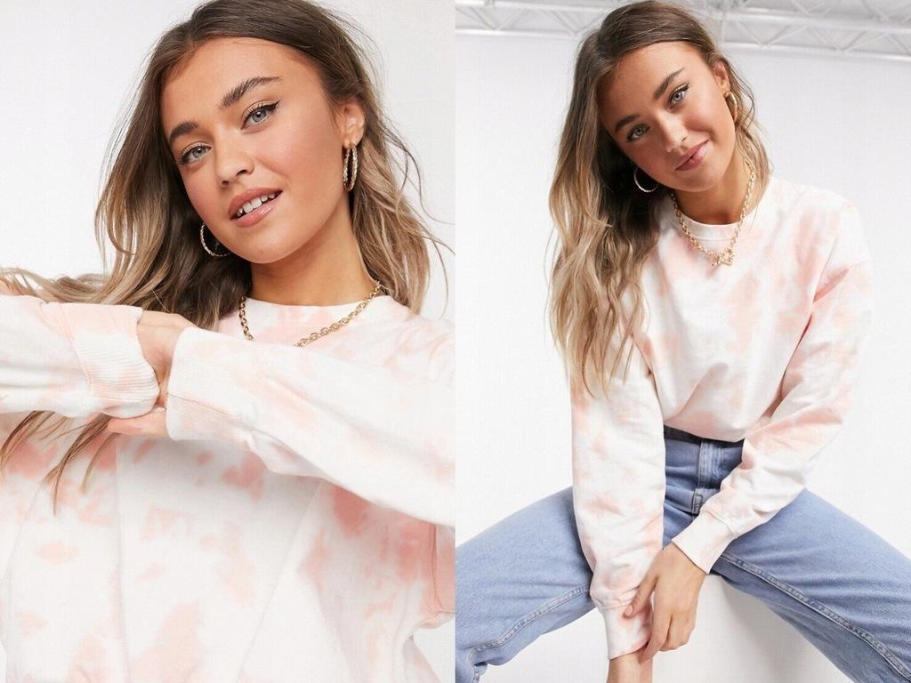 New Look Różowa bluza z efektem tie-d M
