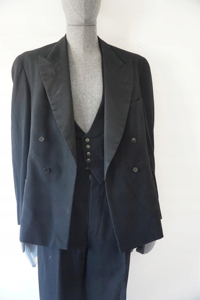 3 częsciowy garnitur elagancki vintage lata 40-ste