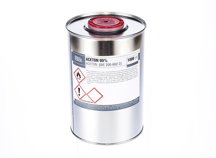 ACETON - czysty 99,83 % 1000 ml / 1L