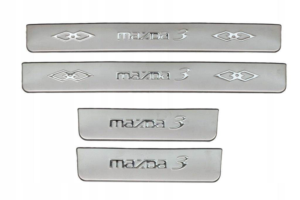 MAZDA 3 LISTWY PROGOWE STALOWE 2011-2014