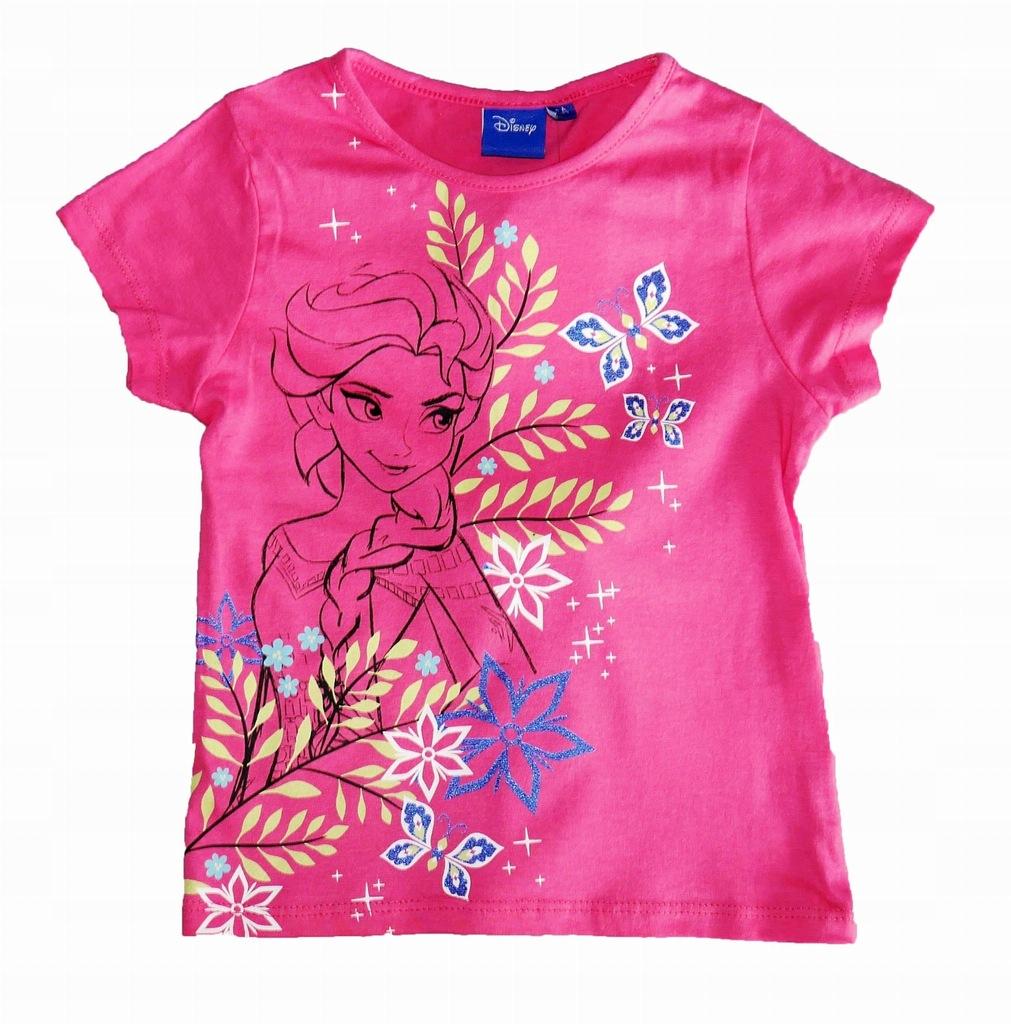 KRAINA LODU Frozen Koszulka róż 128 LICENCJA