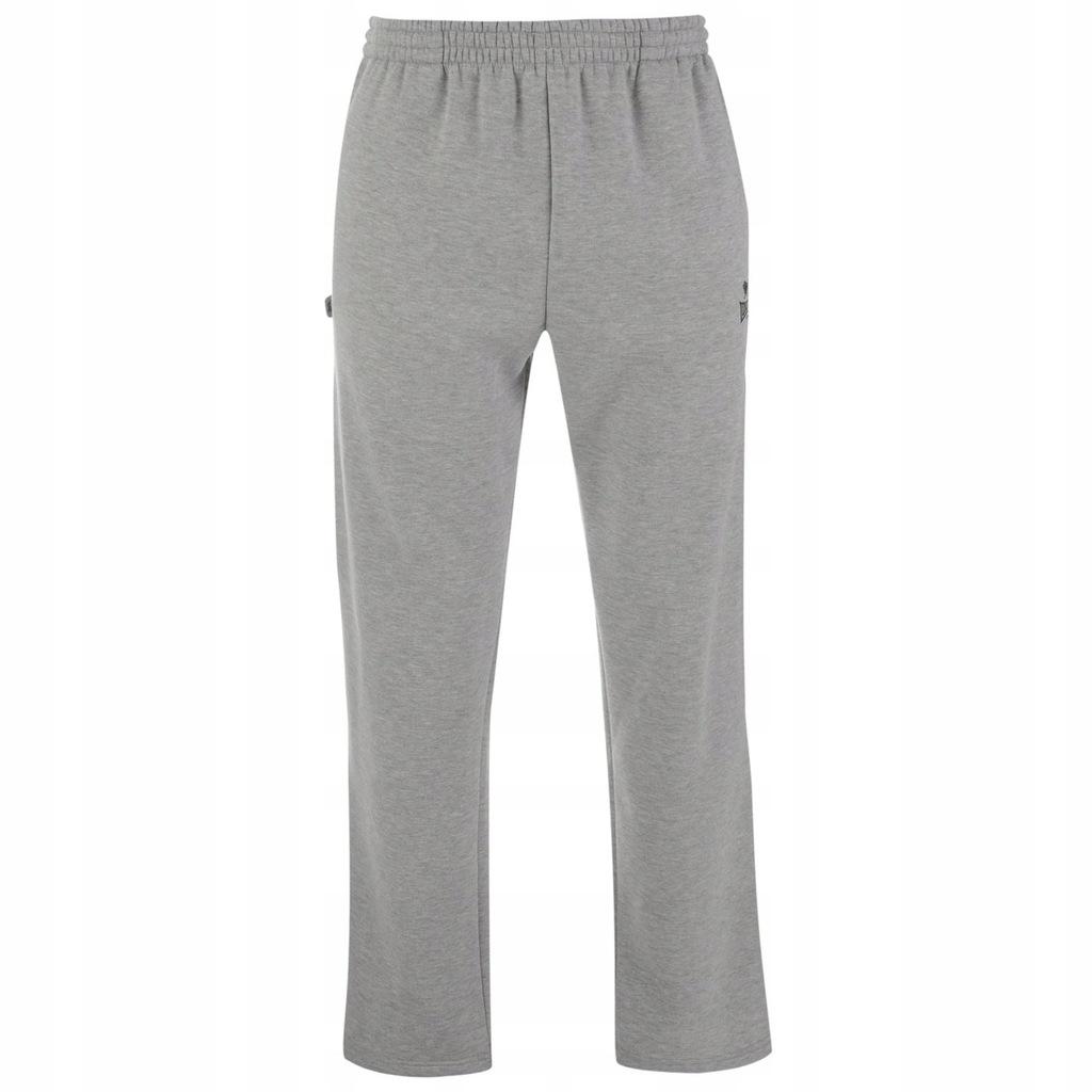 Spodnie dresowe szare ADIDAS ciepłe z polaru szczotkowanego