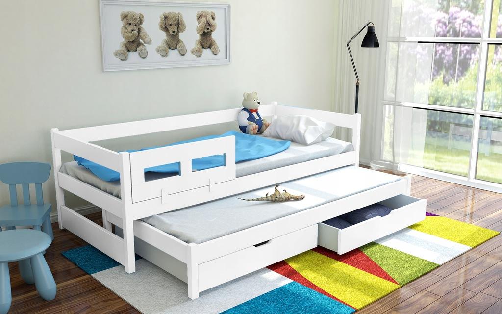 Łóżko 2-poziomowe FRANEK materace GRATIS
