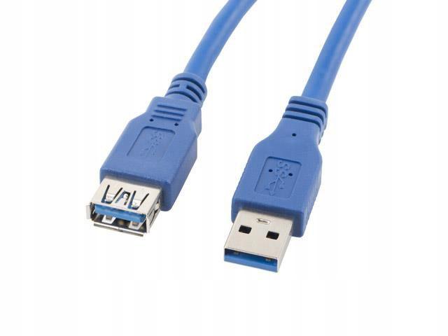 Przedłużacz USB 3.0 Lanberg AM-AF 1,8m niebieski