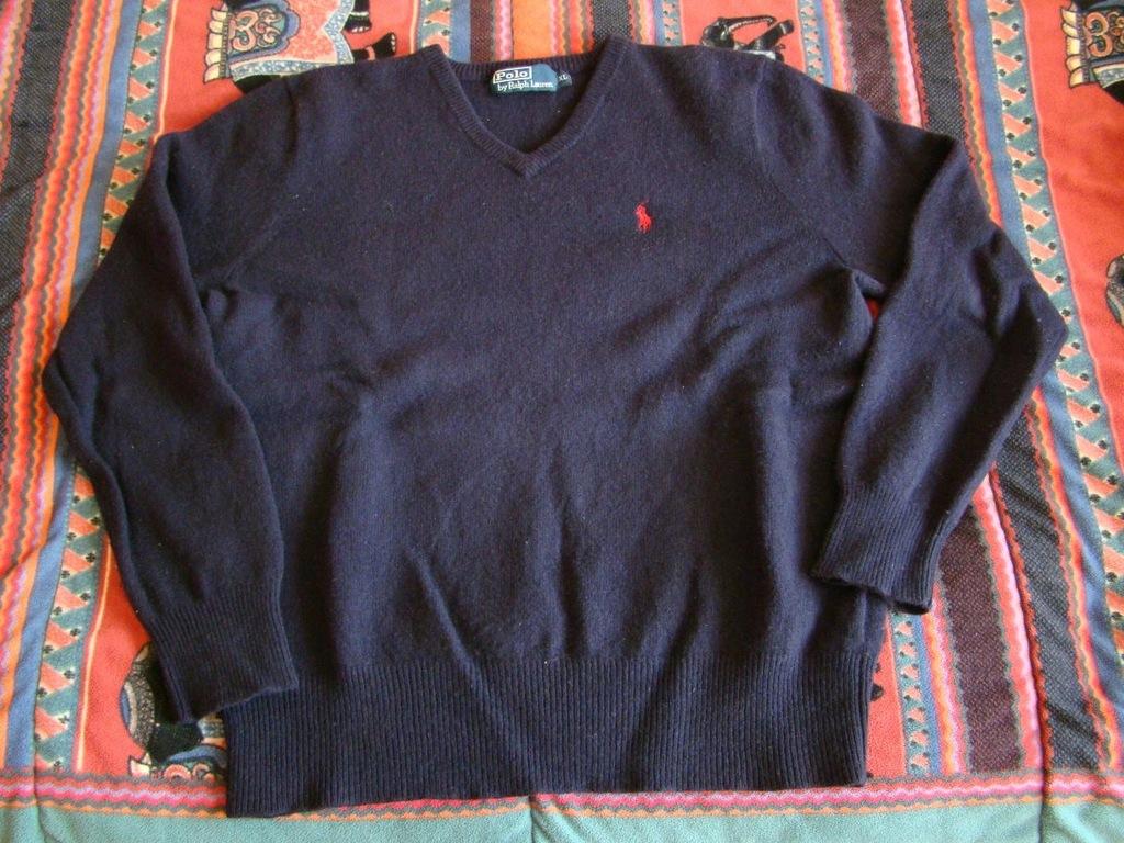 Polo Ralph Lauren granatowy sweter v neck M L