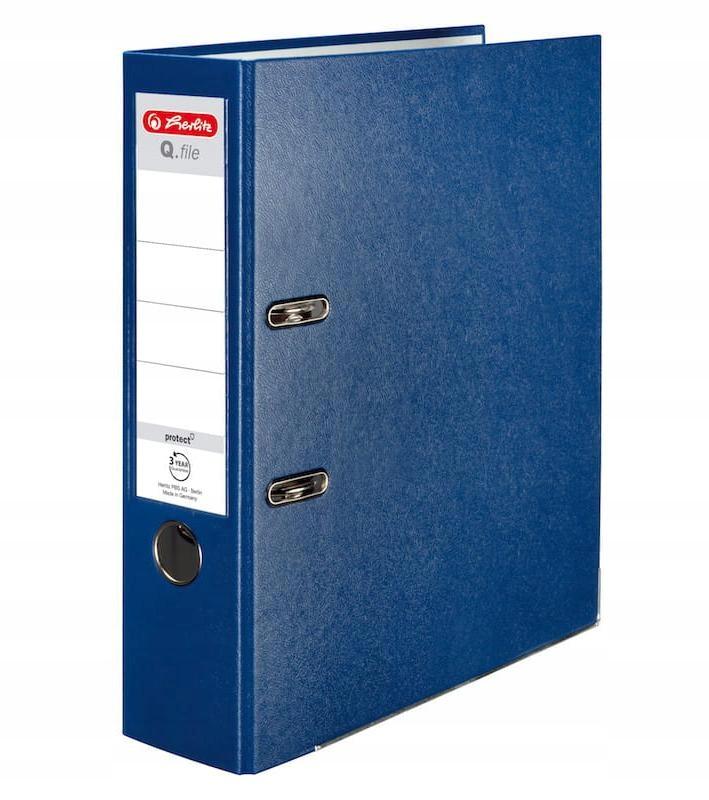 Segregator A4 8cm PP niebieski Q file
