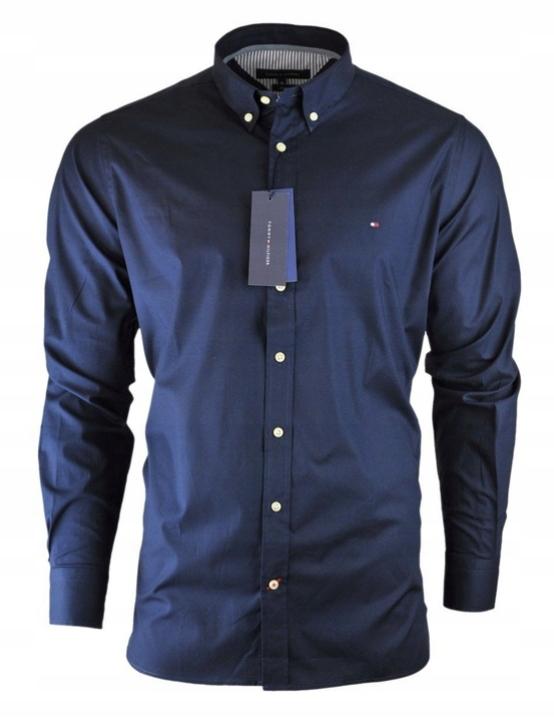 Koszula męska Tommy Hilfiger TH Slim granatowa XL