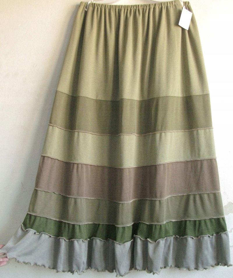 Boho spódnica bordowa z falbankami super wygodna damska Atrakcyjna cena