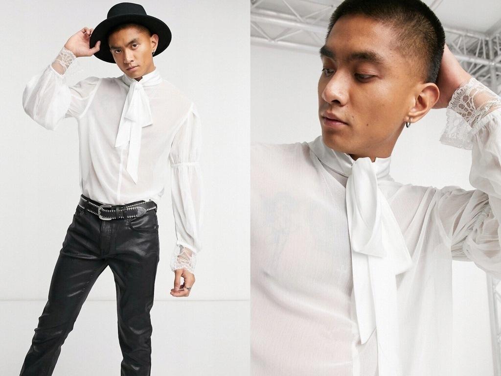 Biała koszula regular z obcisłym mankietem S