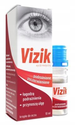 Vizik krople na podrażnione i zaczerwienone oczy,