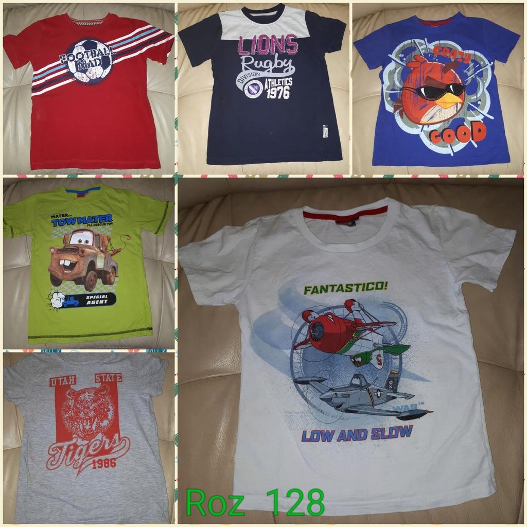 Koszulki 128 7/8 lat 6 sztuk