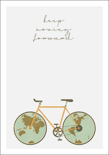 A3 rower rowery KEEP MOVING FORWARD mapa mapy