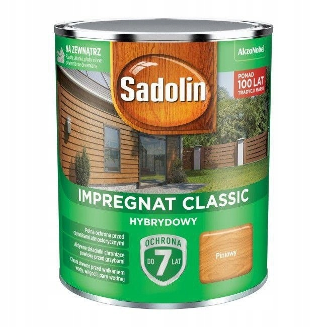 SADOLIN IMPREGNAT CLASSIC HYBRYDOWY 7 LAT PALISAND
