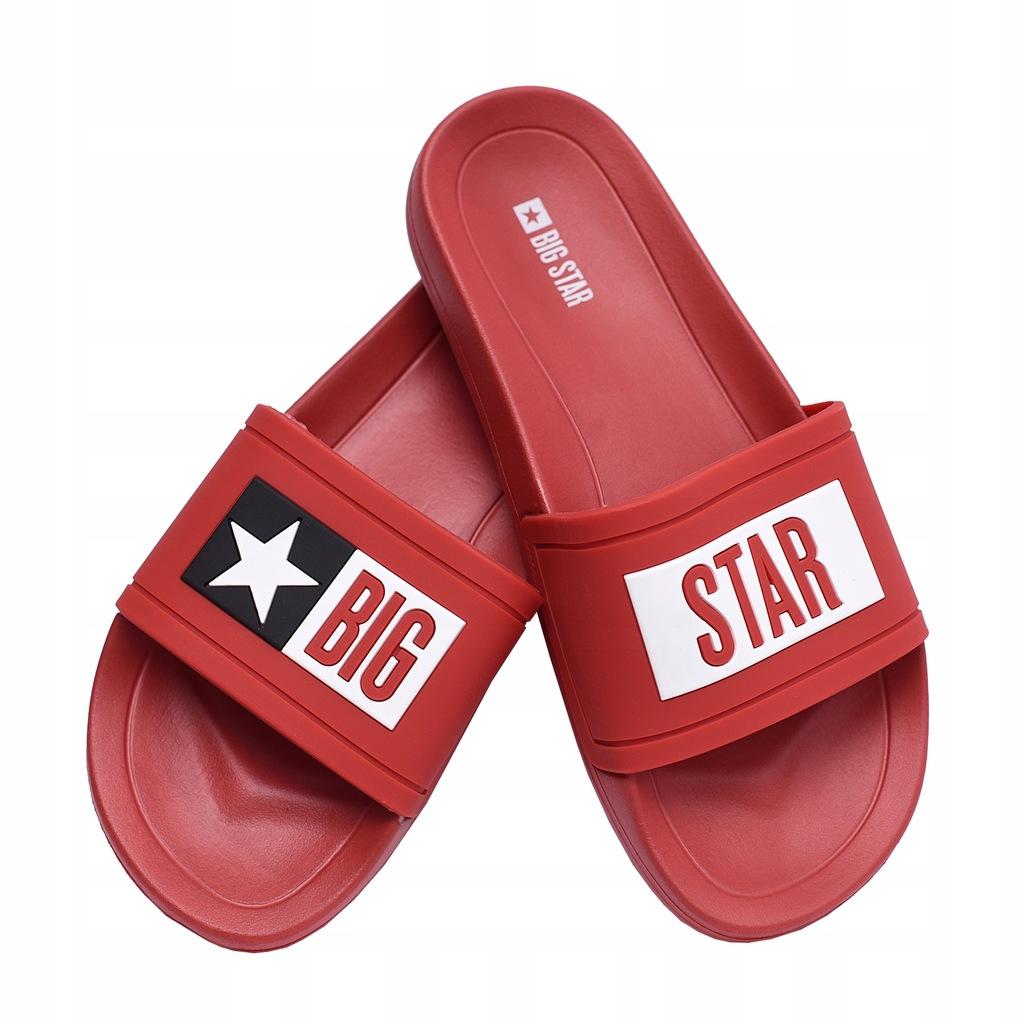 Klapki męskie Big Star DD174702SS20 czerwone 42
