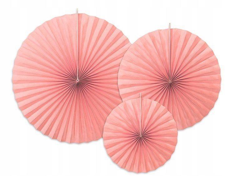 Rozety dekoracyjne, rumiany różowy, 3 szt