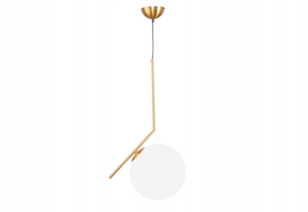 Lampa Kula okragła mosiężna 72h balon złota