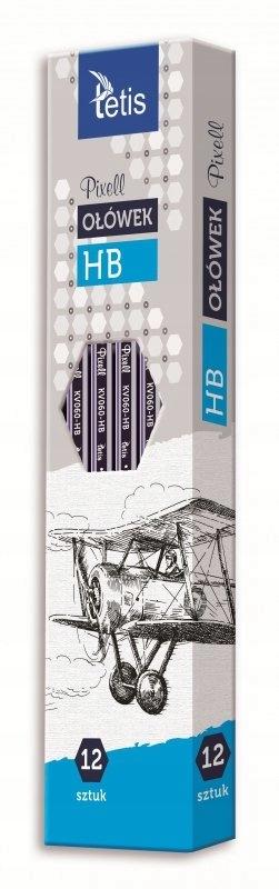Ołówek Tetis pixell heksagonalny HB 12 sztuk