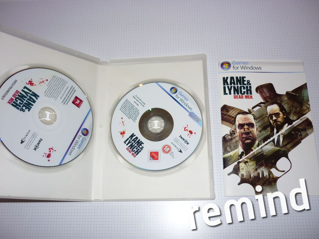 Opakowanie z grą kane & lynch 2x PC DVD