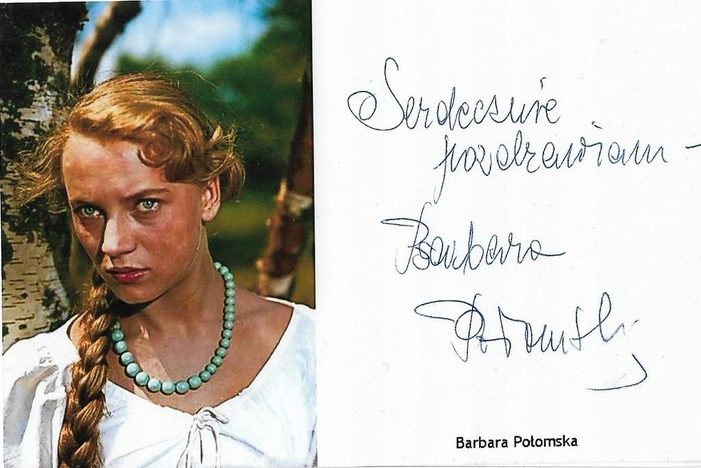 Barbara Polomska Autograf 7826519230 Oficjalne Archiwum Allegro