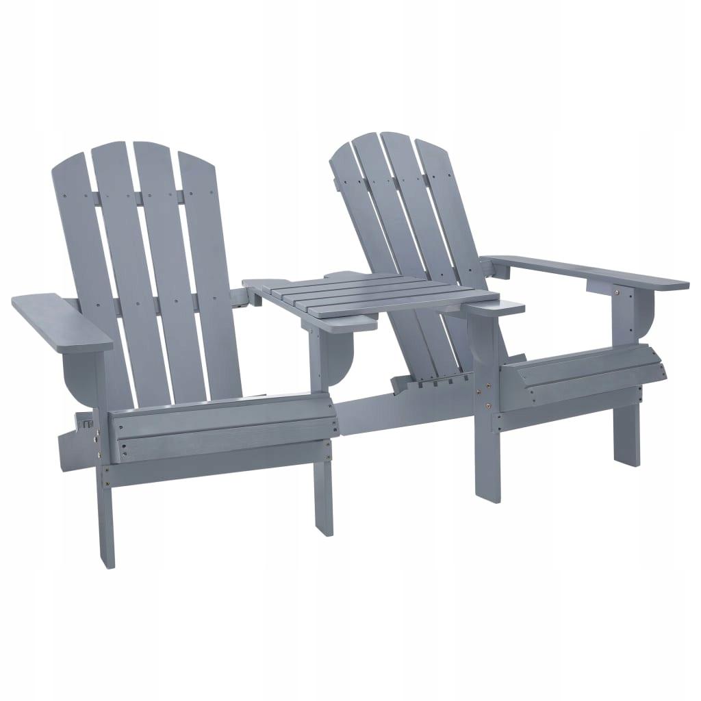 Krzesło ogrodowe Adirondack, lite drewno jodłowe,