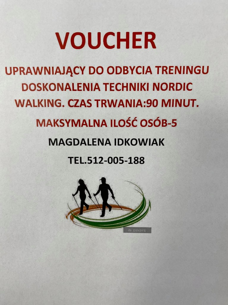 Voucher NORDIC WALKING - WOŚP Mosina