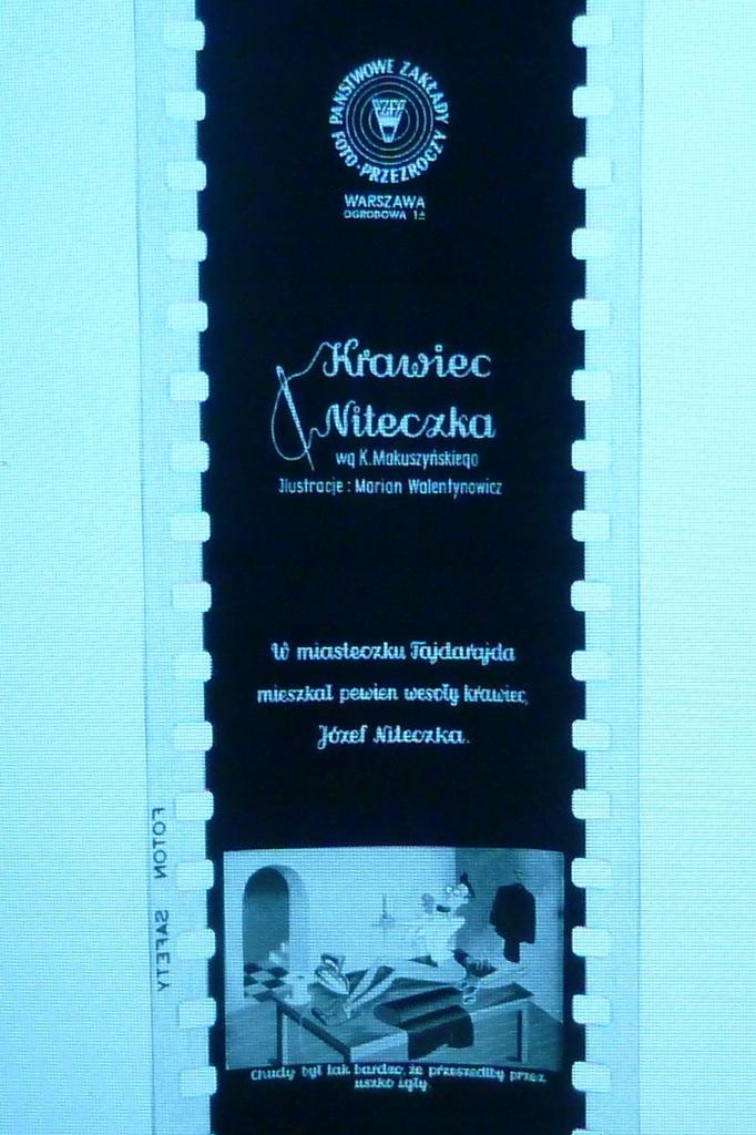 Bajka na rzutnik projektor Krawiec Niteczka PZFP