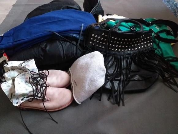 MEGA PAKA spodnie sukienka bluza kurtka S/36 bcm