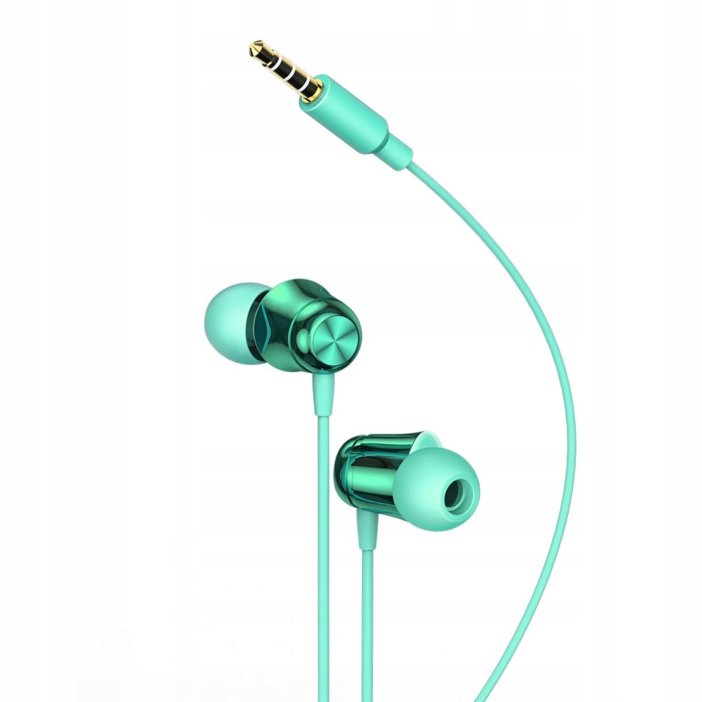 Baseus Encok słuchawki mini jack z pilotem zielone